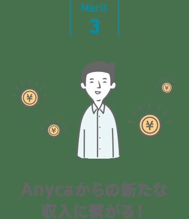 Anycaからの新たな収入に繋がる!